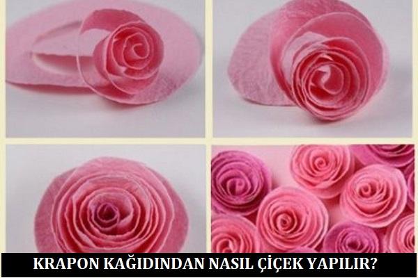 Krapon Kağıdından Nasıl Çiçek Yapılır