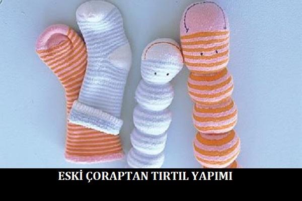 Eski Çoraptan Tırtıl Yapımı