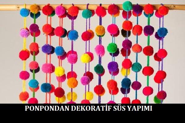 Ponpondan Dekoratif Süs Yapımı