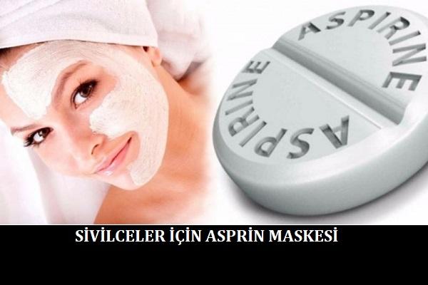 Sivilceler için Asprin Maskesi
