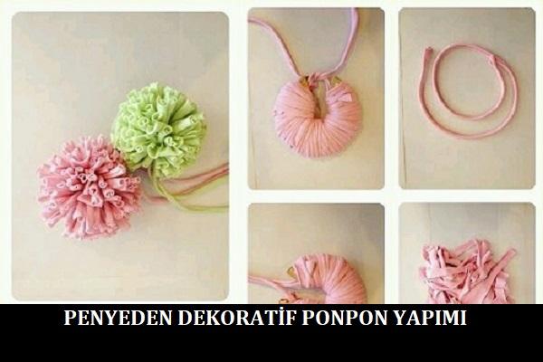 Penyeden Dekoratif Ponpon Yapımı