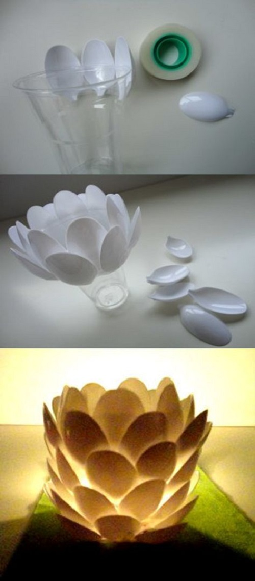 Plastik Kaşıktan Süs Yapımı