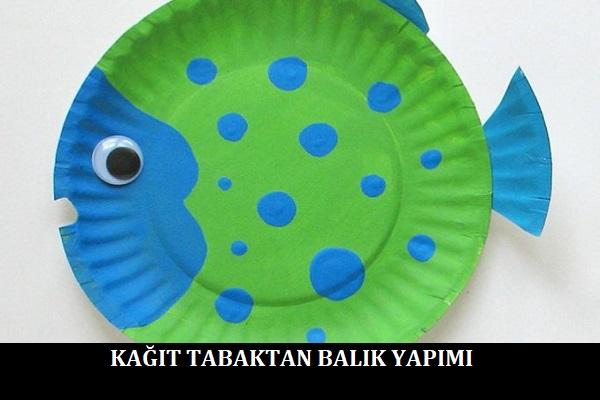 Kağıt Tabaktan Balık Yapımı