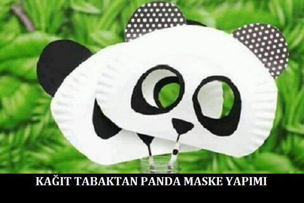 Kagit Tabaktan Panda Maske Yapimi Pratikhanem