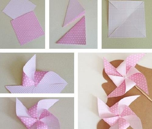 Kağıttan Rüzgar Gülü Yapımı-1