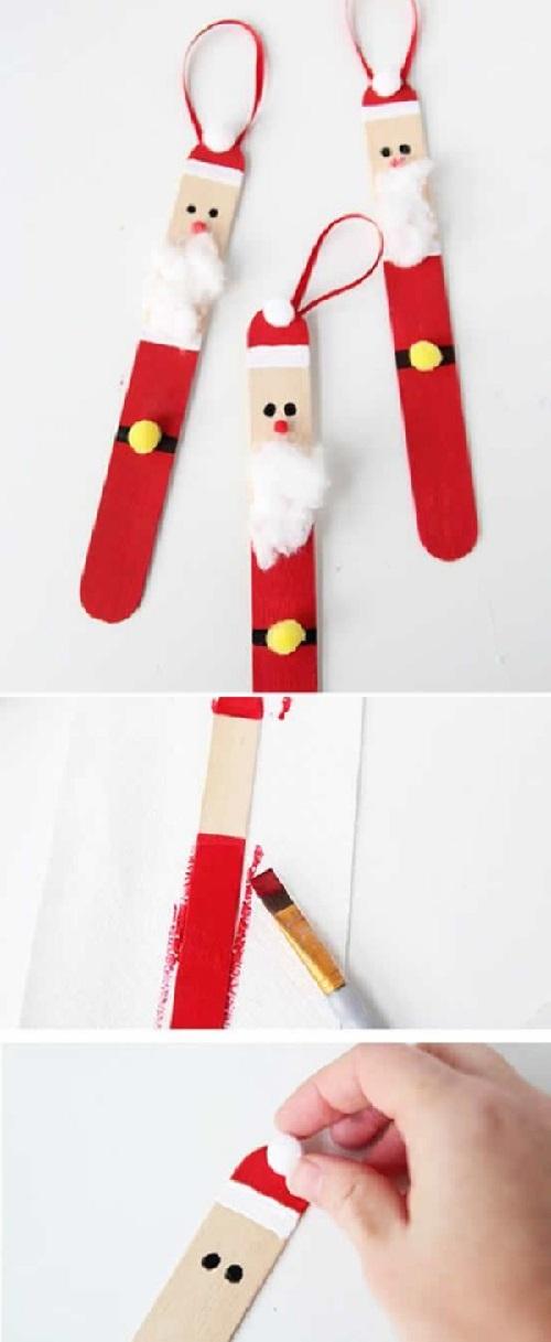 Hobi Çubuğundan Noel Baba Yapımı-1