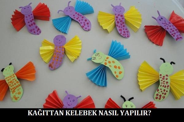 Kağıttan Kelebek Nasıl Yapılır