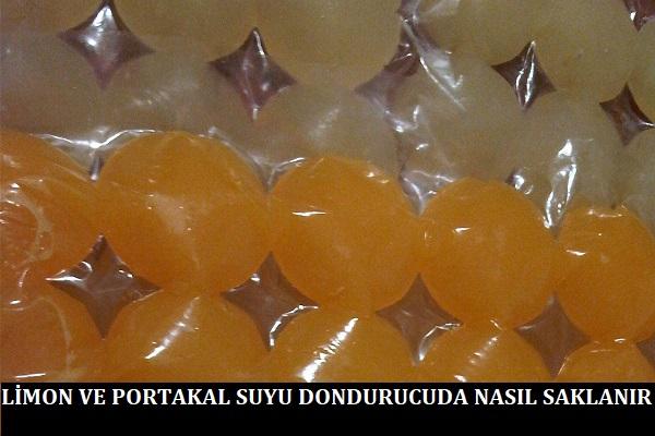 Limon ve Portakal Suyu Dondurucuda Nasıl Saklanır