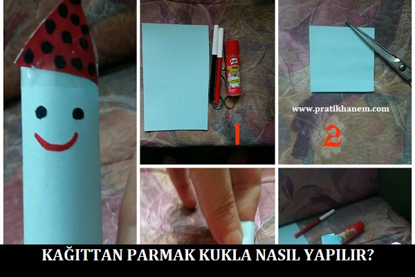 Kağıttan Parmak Kukla Nasıl Yapılır