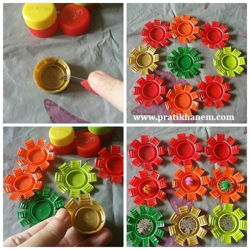 Plastik Kapaktan Çiçek Resimli Anlatım