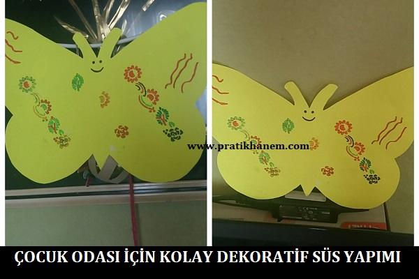 Çocuk Odası için Kolay Dekoratif Süs Yapımı