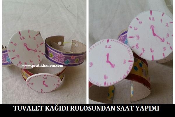 Tuvalet Kağıdı Rulosundan Saat Yapımı