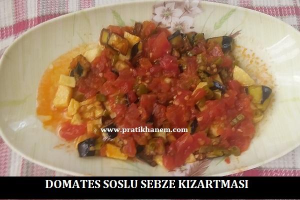 Domates Soslu Sebze Kızartması