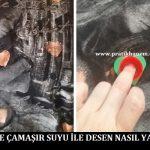 Tişörte Çamaşır Suyu ile Desen Nasıl Yapılır