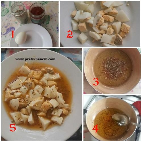 Kahvaltılık Zeytinyağlı Baharatlı Yumurta Yapımı