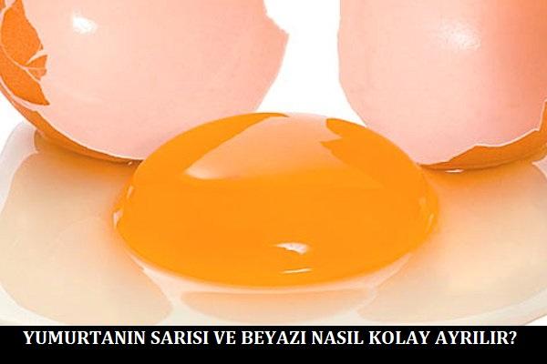 Yumurtanın Sarısı ve Beyazı Nasıl Kolay Ayrılır