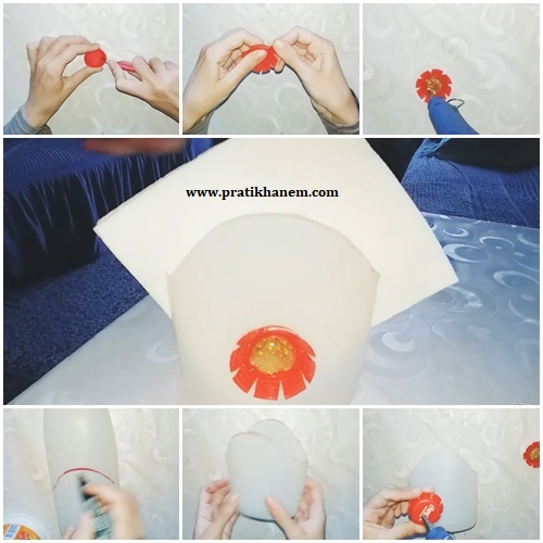 Deterjan Kabı ile Peçetelik Yapımı Resimli Anlatım