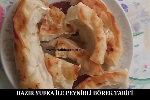 Hazır Yufka ile Peynirli Börek Tarifi