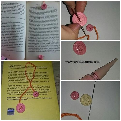 Düğme ile Kitap Ayracı Yapımı Resimli Anlatım