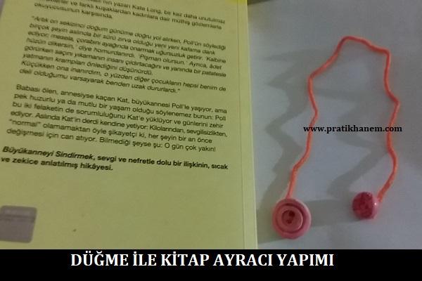 Düğme ile Kitap Ayracı Yapımı