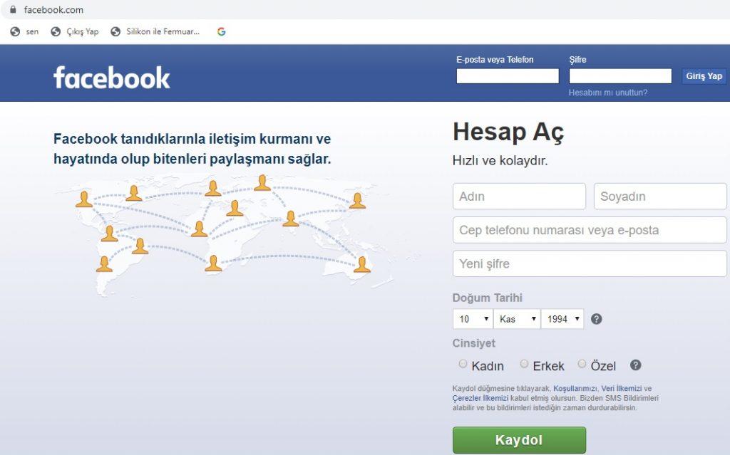 Facebook Nasıl Açılır-1