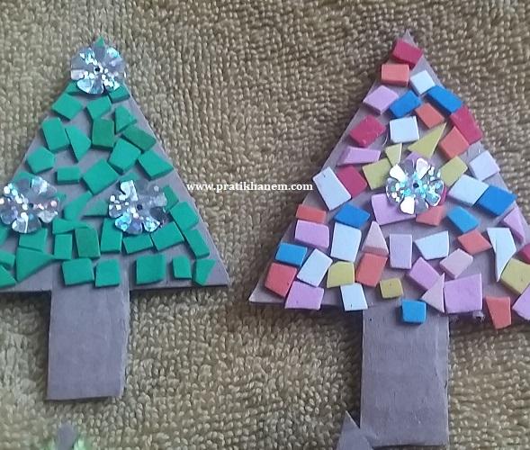 Kartondan Çam Ağacı Süs Yapımı-1