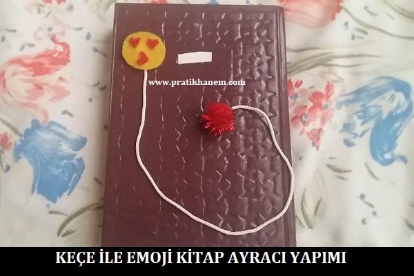 Keçe ile Emoji Kitap Ayracı Yapımı