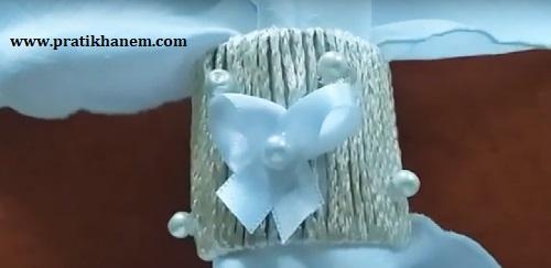 Tuvalet Kağıdı Rulosu ile Peçete Yüzüğü Yapımı-1