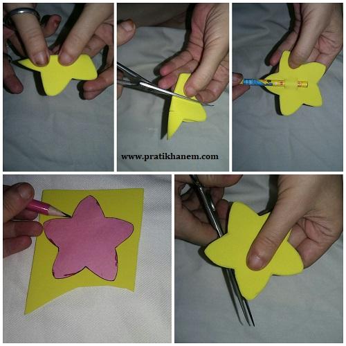 Eva ile Yıldızlı Kalem Süsü Yapımı Resimli Anlatım