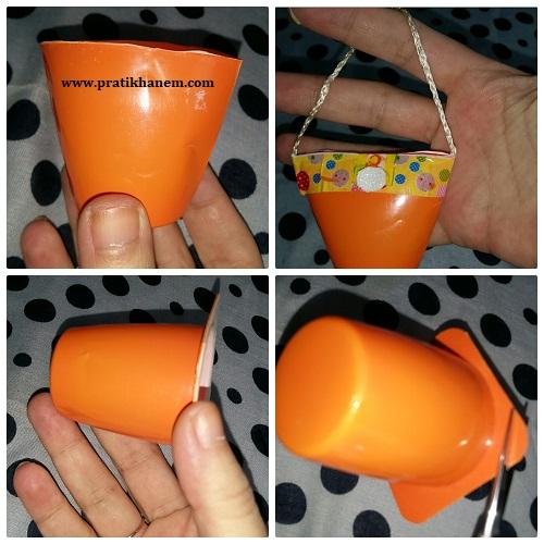 Meyveli Yoğurt Kabı ile Oyuncak Çanta Yapımı Resimli Anlatım