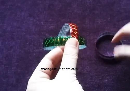 Pet Şişeden Top Süs Yapımı-3