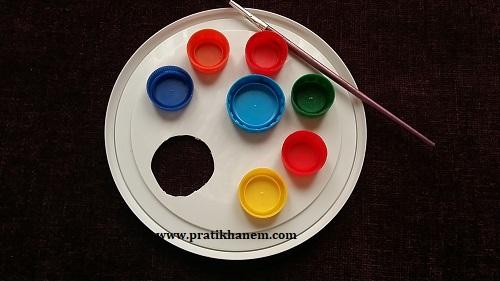 Çocuklar için Resim Paleti Yapımı-1