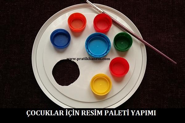 Çocuklar için Resim Paleti Yapımı