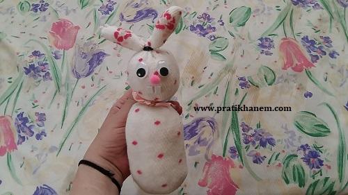 Çoraptan Oyuncak Tavşan Nasıl Yapılır-1