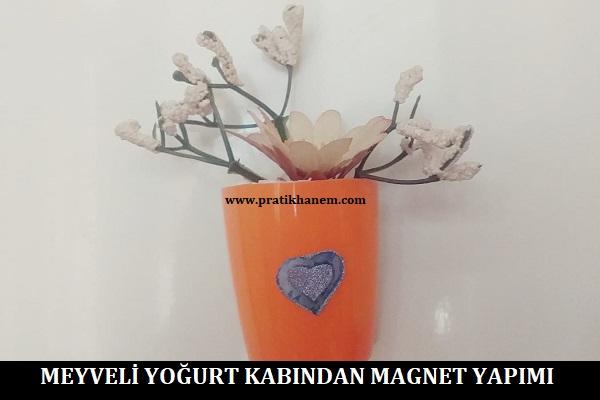 Meyveli Yoğurt Kabından Magnet Yapımı