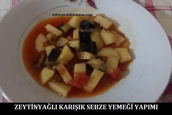 Zeytinyağlı Karışık Sebze Yemeği Yapımı