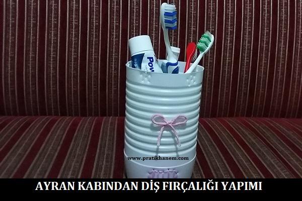 Ayran Kabından Diş Fırçalığı Yapımı
