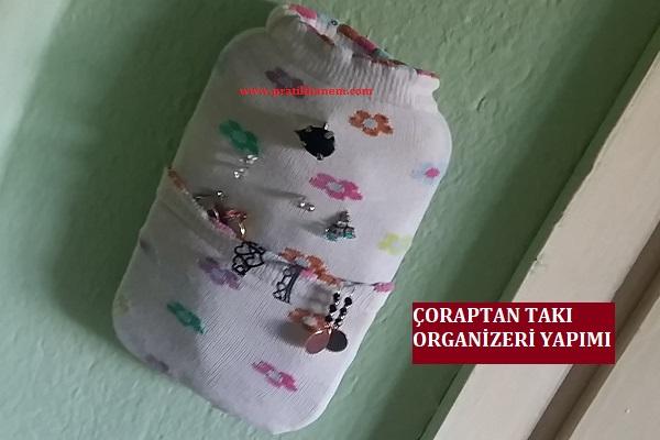 Çoraptan Takı Organizeri Yapımı