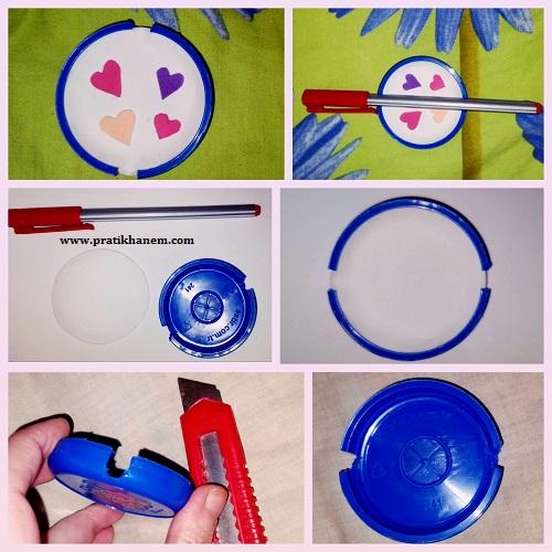 Damacana Kapağı ile Kalem Askısı Yapımı Resimli Anlatım