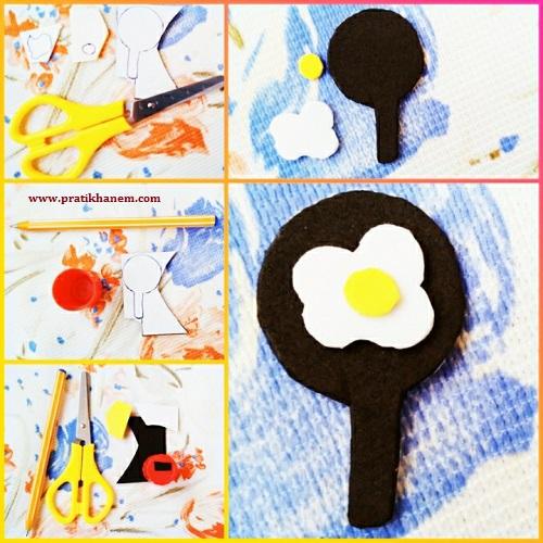 Omlet Magnet Yapımı Resimli Anlatım