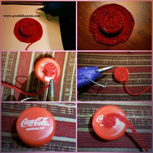 Plastik Şişe Kapağından Şapka Magnet Yapımı Resimli Anlatım
