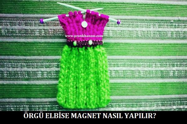 Örgü Elbise Magnet Nasıl Yapılır