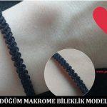 S Düğüm Makrome Bileklik Modeli