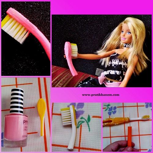 Barbie için Saç Fırçası Yapımı Resimli Anlatım