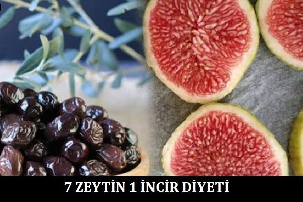 7-Zeytin-1-İncir-Diyeti